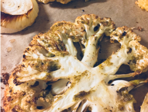 Roasted Cauliflower Steaks with Chimichurri Sauce