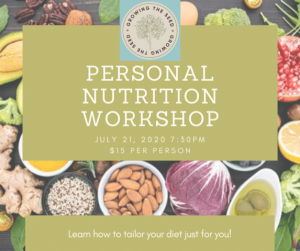 Personal Nutrition Workshop